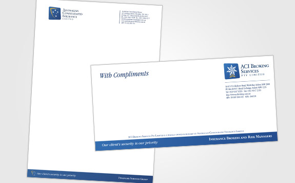 With Compliments and Letterhead Layout
