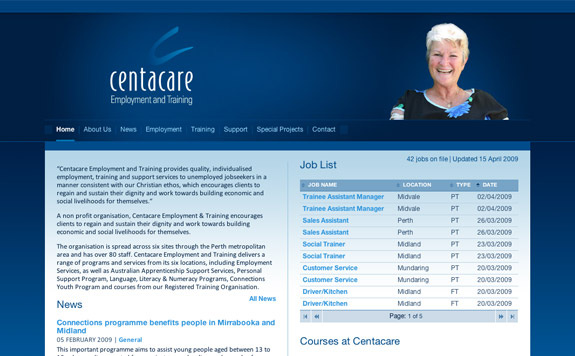 Centacare Wa Website Ipixel Web Design Expressionengine Development Graphic Design Perth Western Australia