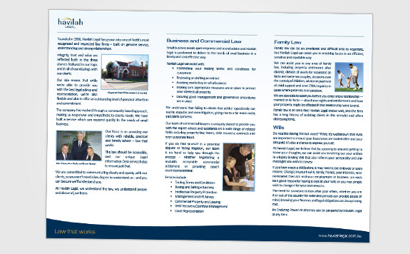 A4 DL Brochure (inside)