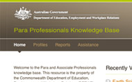 Para Professional Knowledge Base (DEEWR)
