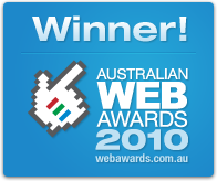 STORM Watches is a 2010 Australian Web Awards Winner - Online Retail (WA Region)